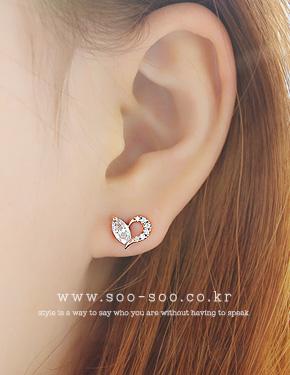 "Feeling love <font color=""#ffffff"">earrings</font> (15E263) [3Color]"