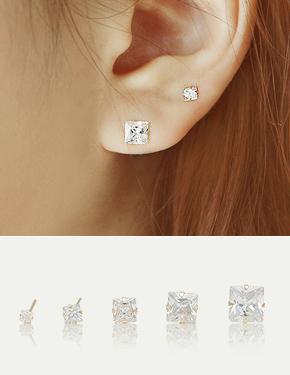 """<font color=""""#ffffff"""">Gold, earrings</font> Kuhn Square (G223) [5Size]"""