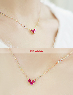 "<font color=""#ffffff"">Necklace, 14K</font> pink dandelion (G233) [1Color]"