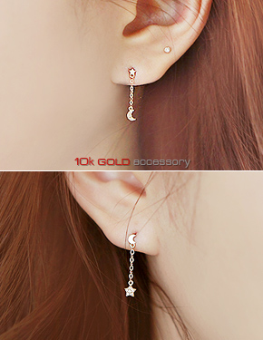 "Long <font color=""#ffffff"">earrings</font> ray (G249) [1Color]"
