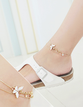 "Like a butterfly anklet <font color=""#ffffff"">anklet</font> (B012) [4Color]"