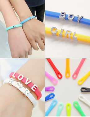"<font color=""#ffffff"">Couples</font> candy jelly <font color=""#ffffff"">bracelets</font> couple (15B172) [2type, 13color]"