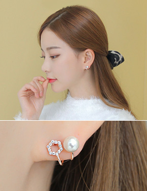"Rhapsody (15E402) <font color=""#ffffff"">earrings</font> Dream [3color]"