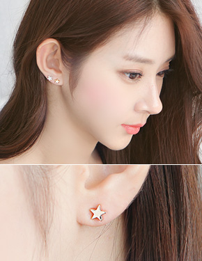 "Petite Star <font color=""#ffffff"">Earrings</font> (15E138) [2Type]"