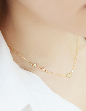"<font color=""#ffffff"">Necklace</font> ♥ ... love you N (SM740) [2Color]"