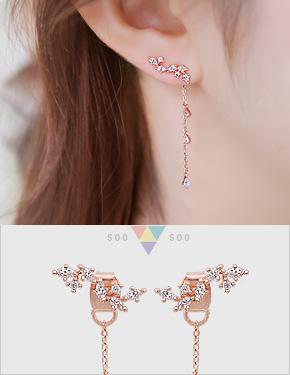 "<font color=""#ffffff"">Earrings</font> Kyra (15E053) [3Color]"