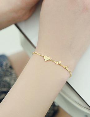 "<font color=""#ffffff"">Bracelet</font> ♥ ... love you brace (SB579) [3Color]"