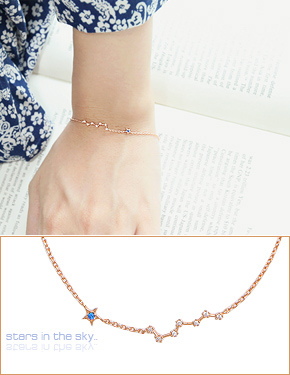 "You can count the stars <font color=""#ffffff"">bracelet</font> brace (B065) [3Color]"