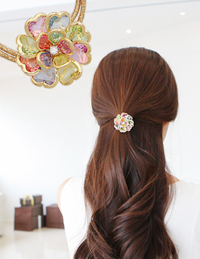 "The <font color=""#ffffff"">strap</font> flew Spring Flower <font color=""#ffffff"">Hair</font> band (15H159) [4color]"
