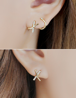 "<font color=""#ffffff"">Earrings</font> thought or (16E790) [3Color]"