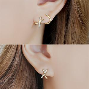 "<font color=""#ffffff"">Earrings</font> thought or (16E790) [3Color]"