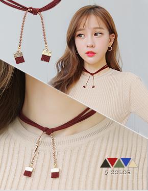 """Tina Xuan <font color=""""#ffffff"""">necklace</font> neck (16N374) [5Color]"""