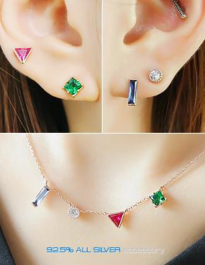 """<font color=""""#ffffff"""">earring, Necklace Sets</font> Shah Lori set (16SS160) [2color]"""