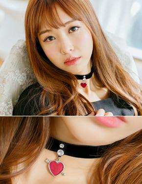 "<font color=""#ffffff"">Necklace, renakeuriseu</font> Cupid Love Choker Necklace (16N458) [2color]"