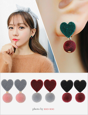 "Melting Love <font color=""#ffffff"">Earrings</font> (16E926) [5color]"