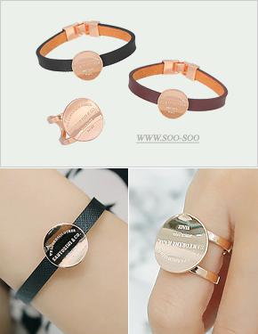 """<font color=""""#ffffff"""">bracelet, Ring sets</font> keton set (17S175) [2color]"""